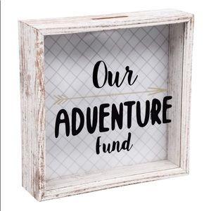 """Our Adventure Fund"" Piggy Bank Box"